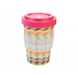 BAMBOO CUP ZIG-ZAG PINK...